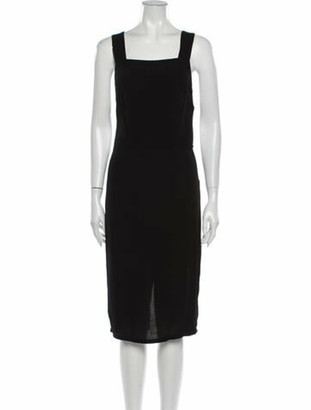 Reformation Lucca Midi Length Dress Black