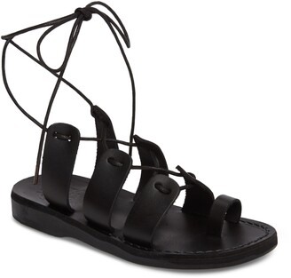 Jerusalem Sandals Deborah Wraparound Laces Sandal