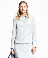 Brooks Brothers Positive-Negative Pastel Polka Dot Jacket