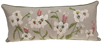 Parkland Collection Daisy Tapestry Beige Throw Pillow