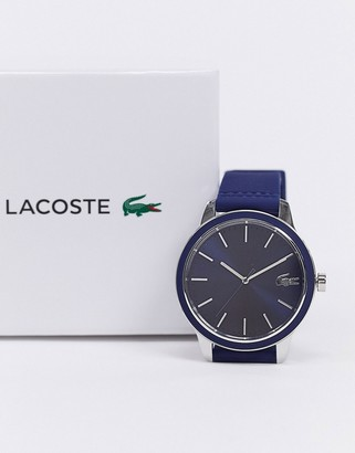 Lacoste 12.12 silicone watch in blue 2011086