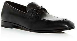 Salvatore Ferragamo Men's Asten Leather Apron-Toe Loafers