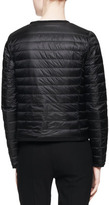 Moncler Long-Sleeve Short Puffer Jacket, Black