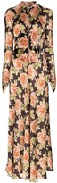 Paco Rabanne floral print flared dress