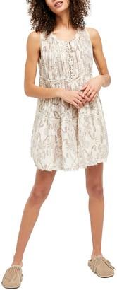 Free People Sundown Sleeveless Floral Mini Dress