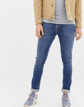 Nudie Jeans Skinny Lin skinny fit jeans in mid authentic power wash