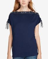 Polo Ralph Lauren Leather-Trim Lace-Up Shirt
