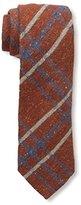 J.Mclaughlin Men's Plaid Wool Blend Tie, Orange