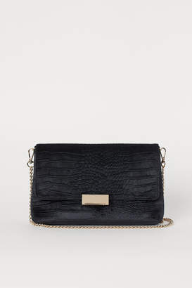 H&M Velour Clutch Bag - Black