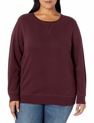 Amazon Essentials Women's Plus Size French Terry Fleece Crewneck Sweatshirt