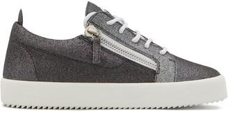 Giuseppe Zanotti Gail metallized low-top sneakers