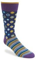 Bugatchi Men's Dot & Stripe Socks