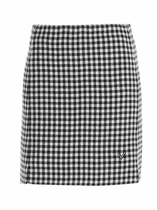 Valentino Gingham Checked Mini Skirt