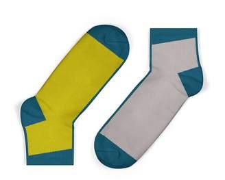 Unisock Contrast Ankle Socks In Mustard