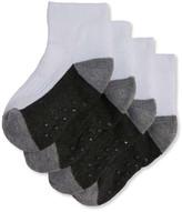Joe Fresh Toddler Boys' 4 Pack Sports Socks, White (Size 1-3)