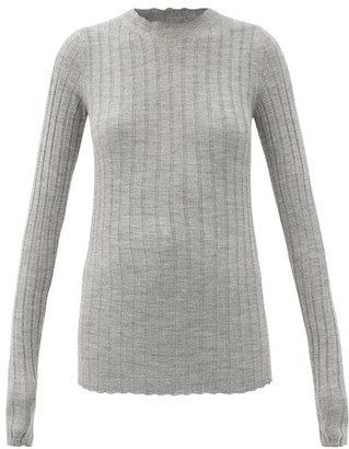 Petar Petrov Kent Ribbed Merino-wool Sweater - Grey