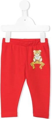 MOSCHINO BAMBINO Teddy Logo Print Trousers