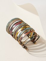 Sibilia Stacked Patina Multi Cuff by at Free People