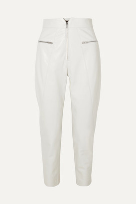 Isabel Marant Cyril Leather Tapered Pants - White