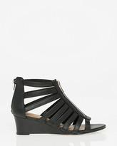 Le Château Leather-Like Gladiator Wedge Sandal