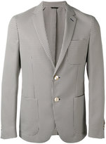 Fendi checked blazer - men - Polyester/Cupro/Viscose - 52
