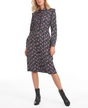 Barbour Laura Ashley Elm Floral-Print Button-Down Dress