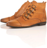 Boots ANVIL Tan Multi Buckle Ankle