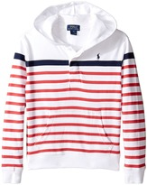 Polo Ralph Lauren 20/1 Yarn-Dyed Jersey Pull Over Hoodie (Little Kids/Big Kids)