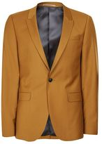 Topman Dark Camel Ultra Skinny Fit Suit Jacket