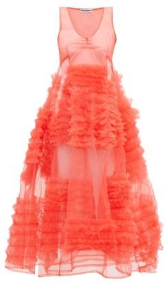 Molly Goddard Whitney Frilled Godet-trimmed Tulle Dress - Pink