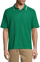 ST. JOHN'S BAY St. John's Bay Easy Care Short Sleeve Pique Polo Shirt