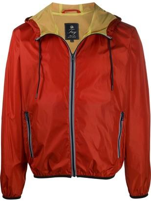 Fay Drawstring Hood Rain Jacket