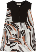 Emilio Pucci Printed stretch-silk top
