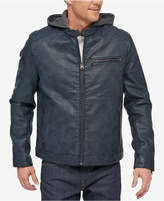 Levi's Men's Faux-Leather Hooded Racer Jacket
