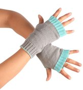 TONSEE Women's Knitted Crochet Long Fingerless Gloves