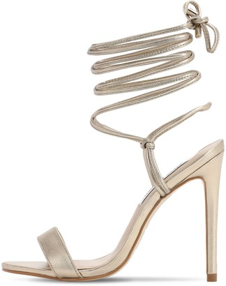 Steve Madden 120MM METALLIC FAUX LEATHER SANDALS