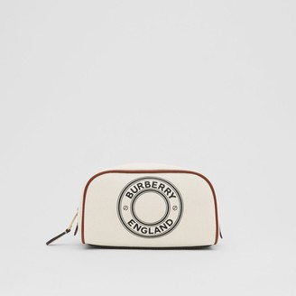 Burberry Small Logo Graphic Cotton Canvas Travel Pouch