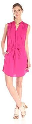 RD Style Women's Poly Crepe Drawstring Waist Dress