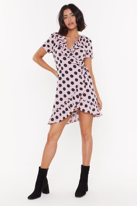 Nasty Gal Womens Nothing's Gonna Spot Us Now Wrap Mini Dress - Pink - 4, Pink