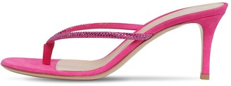 Gianvito Rossi 70MM EMBELLISHED SUEDE THONG SANDALS