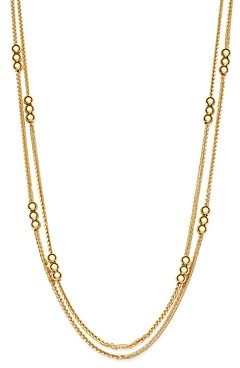 Bloomingdale's Layered Bead Double Strand Necklace in 14K Yellow Gold, 24 - 100% Exclusive