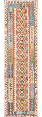 Bungalow Rose Heineman Southwestern Handmade Kilim Runner 2'9'' x 9'8'' Wool Orange Area Rug