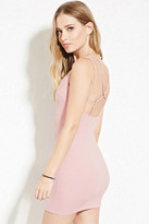 Forever 21 FOREVER 21+ Strappy-Back Bodycon Mini Dress