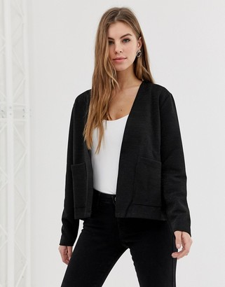 Only Isley open short cardigan-Black