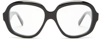 Celine Oversized Round-frame Acetate Glasses - Black