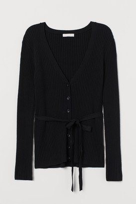 H&M Cardigan with a tie belt