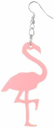 Suzywan DELUXE Women Pink Statement Earrings of Length 6cm Hw0305