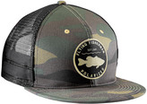 Flying Fisherman Men's Baseball Caps Camo - Olive Camo Bass Flat Bill Trucker Hat