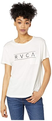 RVCA Ave Short Sleeve (Vintage White) Women's Clothing