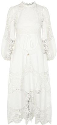 Zimmermann Bonita floral crochet lace midi dress